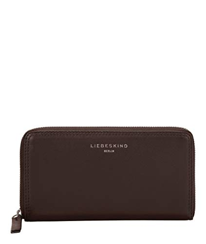 Liebeskind Berlin Damen Ever-Gigi Wallet Medium Geldbörse, Braun (Dark Brown), 2x10x19 cm