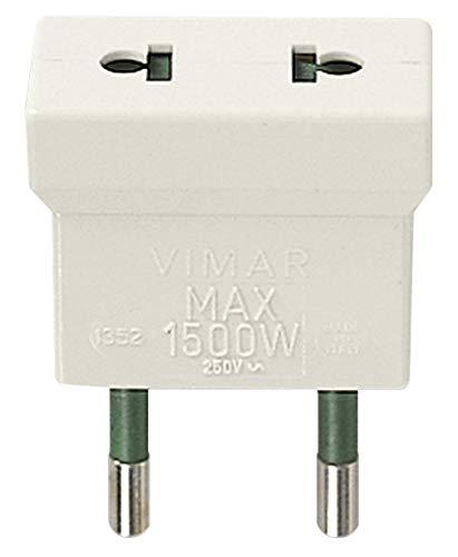 Vimar RI.01352B Adattatore elettrico spina S10 presa americana USA + europea EU, bianco