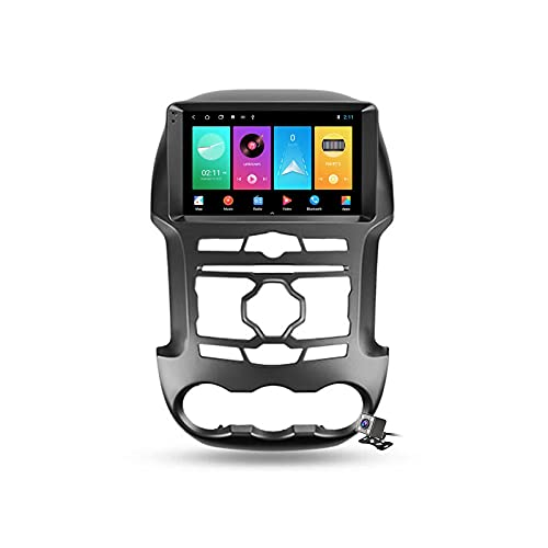 Radio de coche GPS Android 10 de 9 pulgadas para Ford Ranger 3 2011-2015 incorporado Carplay Android soporte 5G WiFi pantalla dividida/control del volante/cámara de visión trasera
