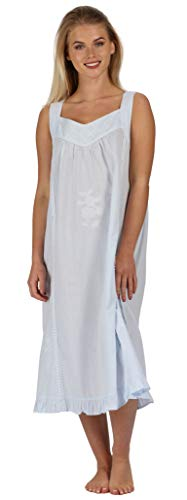 The 1 for U 100% Baumwolle Nachthemd - Nancy - S - XXXXL … - Blau, 4XL