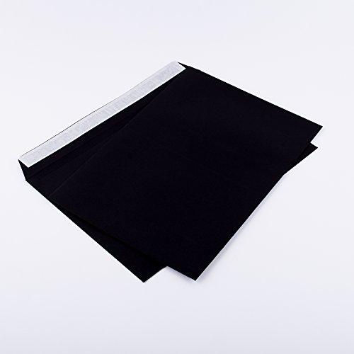 Briefumschläge DIN C5 162 x 229 mm schwarz 120g/m² ohne Fenster haftklebend (Artikel: 314A) (100)