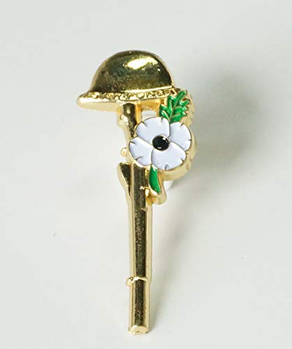 DingCollection RARE 2019 Remembrance Day Helmet Poppy Enamel Pin Badge Brooch
