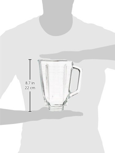 Oster 5-Cup Glass Square Replacement Blender Jar, 4.5