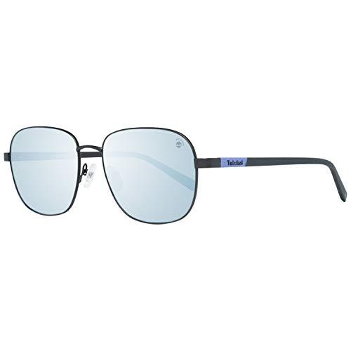 Timberland TB9165 5702D zonnebril TB9165 02D ovale zonnebril 57, zwart