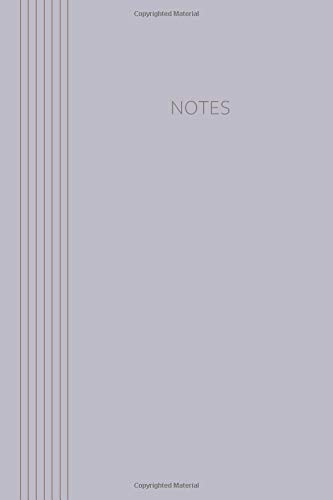 Notes: Classic Collection | 6 x 9 | 120 pages | dot grid | Softcover | Grayish violet (Notebook Classic)