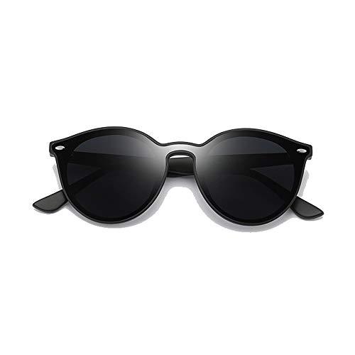 NgMik Gafas De Sol Polarizadas Gafas de Sol clásicas ultraligeras TR Fashion Trend Big Frame Lente de Montura Completa Gafas de Sol de Colores Clásico (Color : Black, Size : Free Size)
