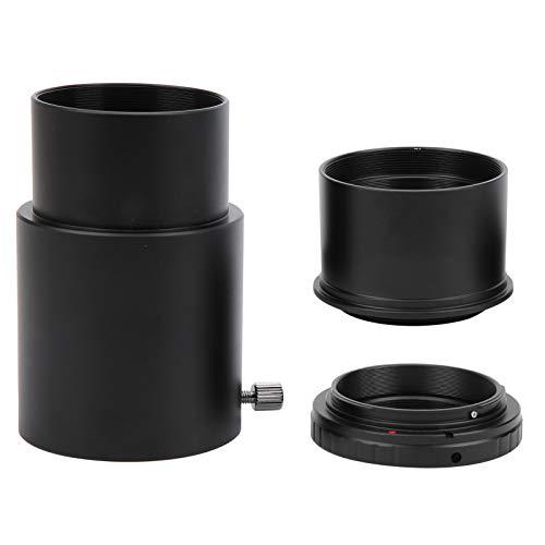Adaptador de telescopio, Tubo de extensión de Ocular de 2 Pulgadas y 60 mm, Anillo Adaptador T2-EOS para telescopio astronómico de Montura T2 para cámara para Canon EF/EF-S
