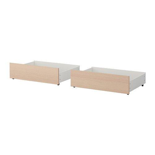 Ikea Malm Ikea Full/Double/Twin/contenitore singolo per letto ad alta marrone bianco impiallacciato...