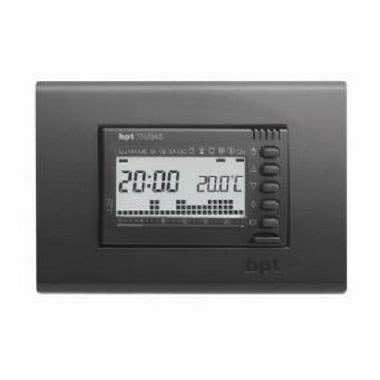 Cronotermostato da incasso elettronico digitale settimanale grigio TH/345 GR