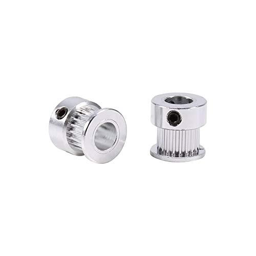 Liineparalle 2 pezzi puleggia cinghia pulegge dentate in lega diametro 8mm diametro interno 20 denti per stampante 3D materiale alluminioSet di cinghie dentate per puleggia sincrona ad anello chiuso p