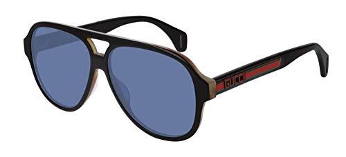 Gucci Sonnenbrillen GG0463S Black/Blue Herrenbrillen