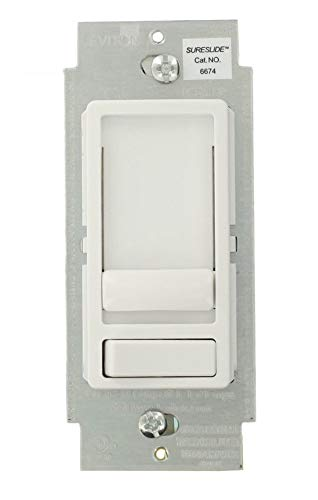 Leviton SureSlide 6674 - Single Pole/3-Way - Dimmable CFL and Incandescent Slide Dimmer - 150W CFL - 600W Incandescent - White