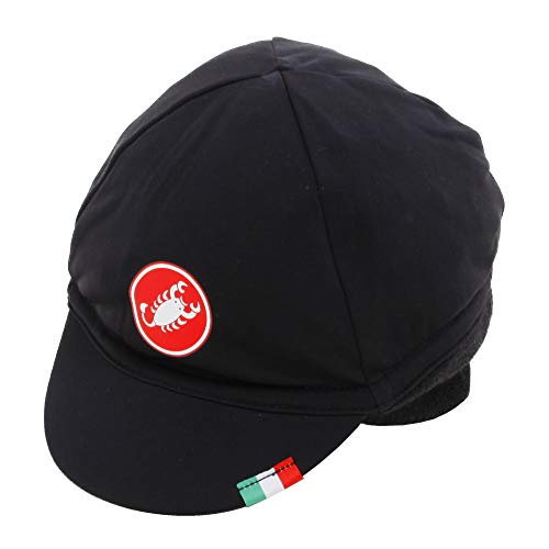 CA5W0|#Castelli Defensa Thermal Cap, gorro de ciclismo unisex – Adulto, Black Red, Uni