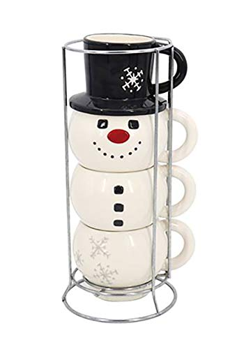 Stacking Mug Set Snowman Standard