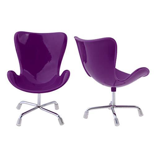 sharprepublic 2 X 1/6 Oficina Swan Chair Lounge Chair Muñecas Accesorio Niños Juego de Simulación Juguete