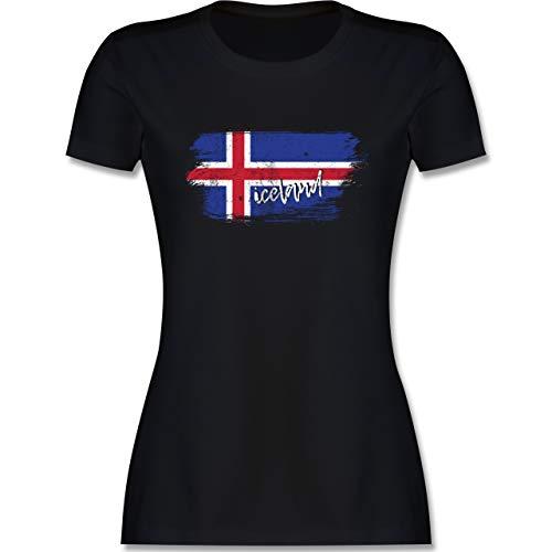 Handball WM 2019 - Island Vintage - XXL - Schwarz - Tshirt isländer - L191 - Tailliertes Tshirt für Damen und Frauen T-Shirt