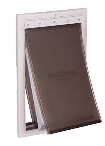 PetSafe - Porte pour Animaux pour Conditions Climatiques Extrêmes - Très Isolante - Triple protection Contre le Froid et le Chaud, avec panneau de fermeture – Taille moyenne M