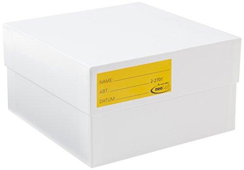 NeoLab 2-2701 Kryo opbergdoos van karton, 75 mm hoog, wit