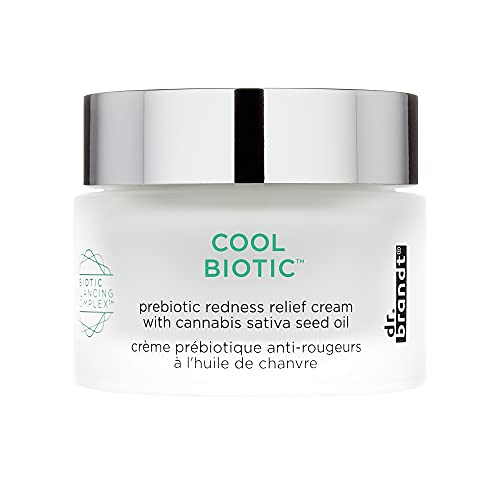 Dr. Brandt Cool Biotic. Luxurious Prebiotic Redness Relief Face Cream that Hydrates and Sooths. Alleviates Discomfort from Redness and Irritation, and Calms Skin (1.7 oz)