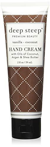 Deep Steep Crème pour les mains, 56,7 gram, vanille de noix de coco