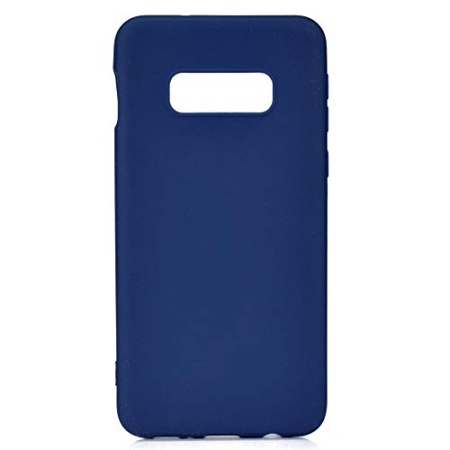Funda para Samsung Galaxy S10e SM-G970F azul TPU flexible suave ultra fina antiarañazos HD funda compatible smartphone