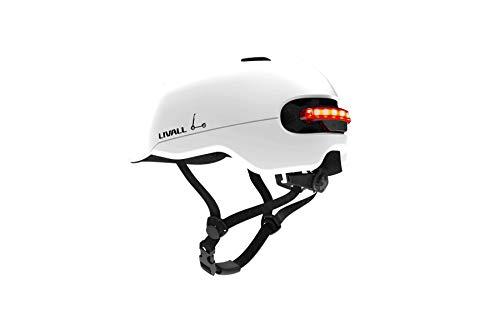 Livall Unisex– Erwachsene C20 Fahrradhelm, weiß, L