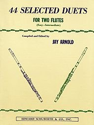 Flute 44 Selected Duets For Two Flutes Book 1 Easy Intermediate
