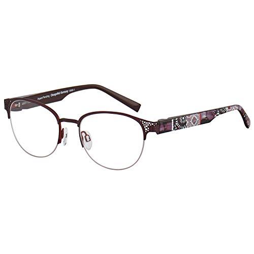 Change Me Brille rund 2392-1 mit Wechselbügel 8568-1 weinrot