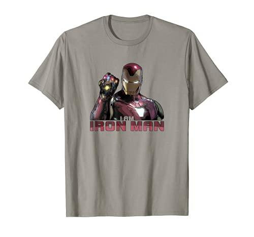 Marvel Avengers Endgame I Am Iron Man Movie Quote Portrait Camiseta