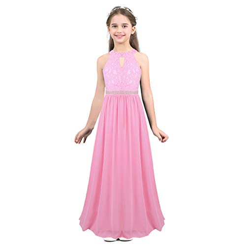 FEESHOW mädchen kleid rosa 12a jahre (152 cm)
