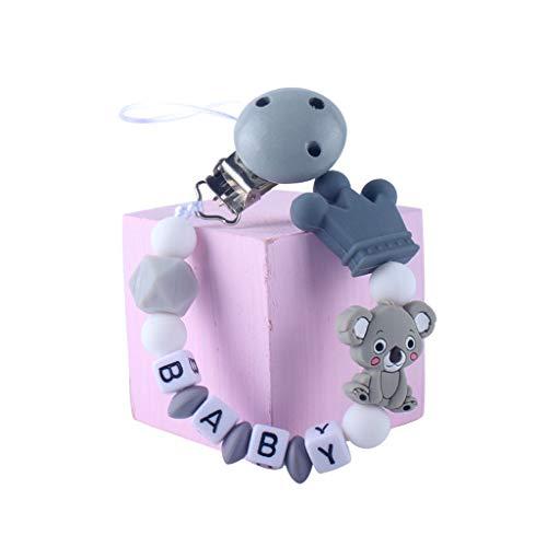 Q.A chupetes de Clips, Clips de Chupete para bebé Personalizado Bricolaje Material de Silicona Nacimiento Regalo del bebé