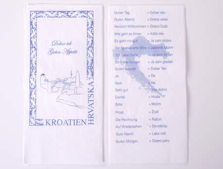 Everflag Restaurant-Servietten Kroatien mit Sprachkurs 25er Pack