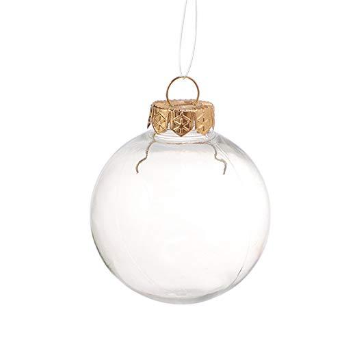 Duomu Mini botella de plástico transparente vacía del globo, botella de plástico transparente hueco decorativo de la bola de bricolaje, botella esférica con tapa