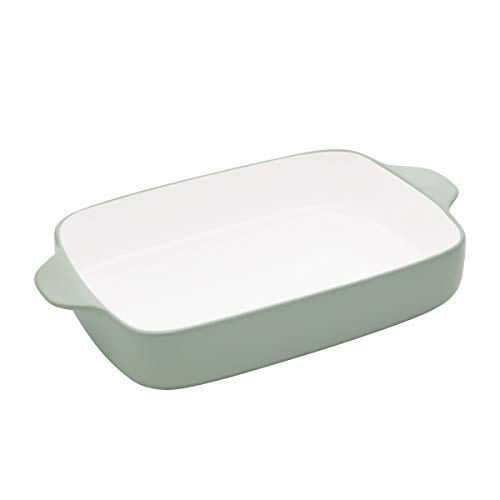 KitchenAid Vitrified Stoneware Rectangular Baker, 4.5-Quart, Pistachio