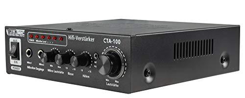 ChiliTec CTA-100 - Amplificador Hi-Fi Compacto (100 W, Entrada RCA ...