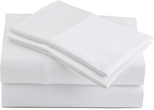 1000 Thread Count Egyptian Cotton Sheets Set, Queen Size Sheets, White Sheets Sets of 4 Piece for Queen Bed Extra Soft Long Staple Cotton Queen Sheet Set, Fits Queen Mattress Upto 16″ Deep Pocket