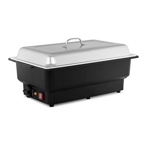 Royal Catering RCCD-1/1-100-KS-E Chafing Dish Warmhaltebehälter Speisewärmer Elektrisch (900 W, 30–90 °C, 13,3 L, GN Behälter 1/1, T 100 mm, Gehäuse aus Kunststoff)