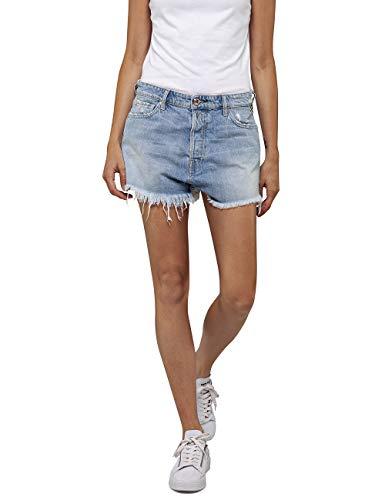 Replay Damen WA425 .000.50C 63R Shorts, Schwarz (Black 010), W(Herstellergröße: 31)