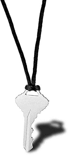 YUNQIYZH Co.,ltd Creative Necklace Necklace Nylon Rope Key Titanium Steel Wild Personality Men and Women Accessories Simple Street Fashion Pendant 85Cm Pendant Necklace Girls Boys Gift
