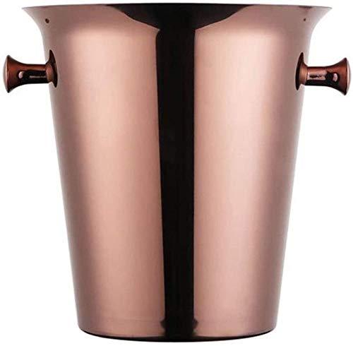 OHPA Barrel Cubos de Hielo con Pinzas de Hielo de Acero Inoxidable Cubo de Hielo de Doble Pared Barril de champán Barril de Vino (5L) 0701