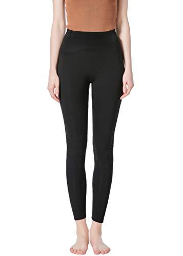 JOPHY & CO - Lange Leggings für Damen, bi-elastisch, aus Push-Up-Gewebe (Artikelnummer: 9815), Schwarz L
