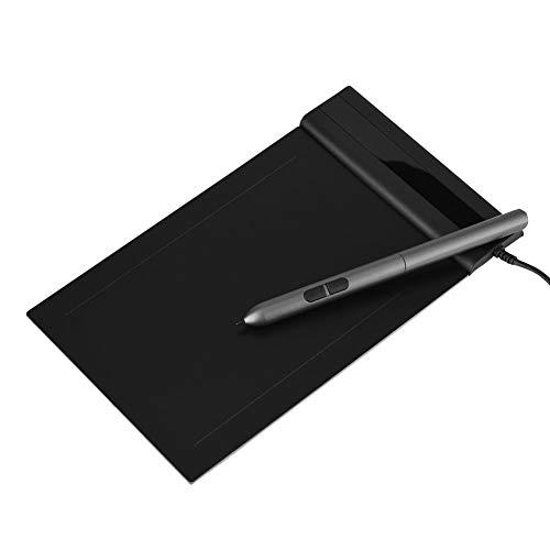 Tableta gráfica de 6x4 pulgadas + Pen 8192 Sensibilidad a la presión, Tableta de dibujo con cable 5080LPI Espacios de trabajo grandes, Lápiz de dibujo con función de borrador, 8 Cables de repuesto, Co