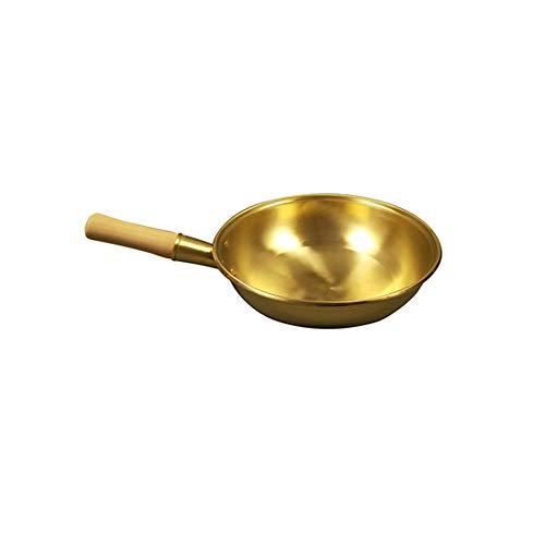 ZLDGYG Pentola in rame puro Pentola in rame Padella per wok Padella in ottone Pentola per cottura Wok Fornello in rame