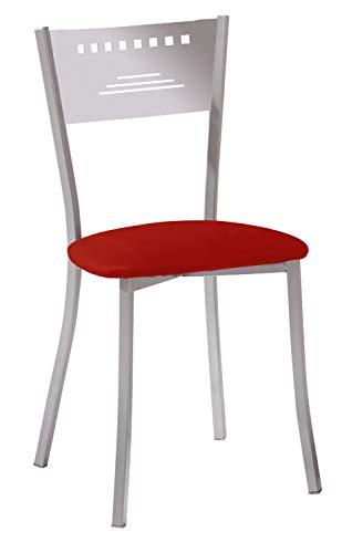 ASTIMESA Dos Sillas de Cocina Diseño Trapecio Rojo