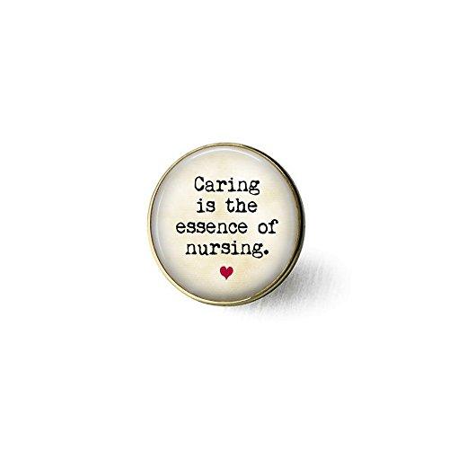 BAB Caring is the essence of Nursing - Broche de enfermera - Broche de enfermería - Regalo para enfermera - Broche de enfermera - Regalo LVN - Regalo RN