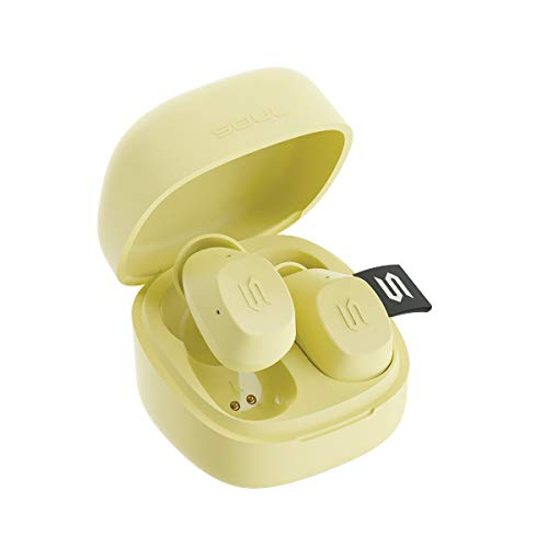 New SOUL S-Nano True Wireless Earbuds - in Ear Headphones, Ultra Portable, Bluetooth, IPX5 Waterproof, Transparency Mode - Yellow