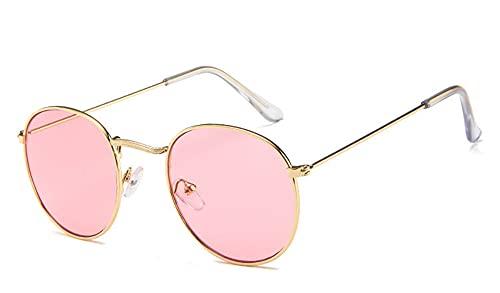 Gafas de sol ovaladas retro para mujer y hombre, color negro, rojo, amarillo, lentes de sol (color: C7)