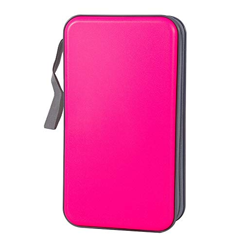 Jalisiol CD Case Wallet, 80 Capacity CD DVD Case Storage Protective CD VCD Wallets Organizer Booklet for Car Home Travel (Pink)