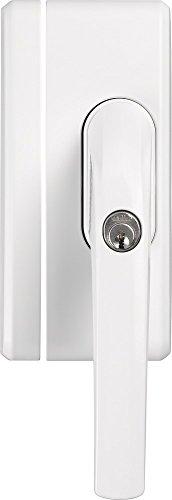 ABUS Fenstergriff-Schloss FO400A AL0125 - Fenstergriffsicherung mit Zusatzschloss und Alarmfunktion, gleichschließend - ABUS-Sicherheitslevel 10 - 33270 - Weiß
