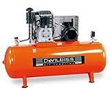 Compresseur à piston Bi-Etagé marche lente 500 L 10 CV DEVILBISS